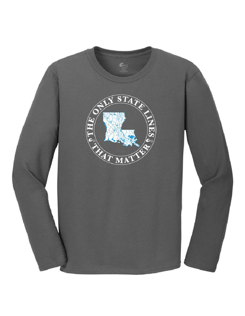 Louisiana State Waterways Long Sleeve T-Shirt