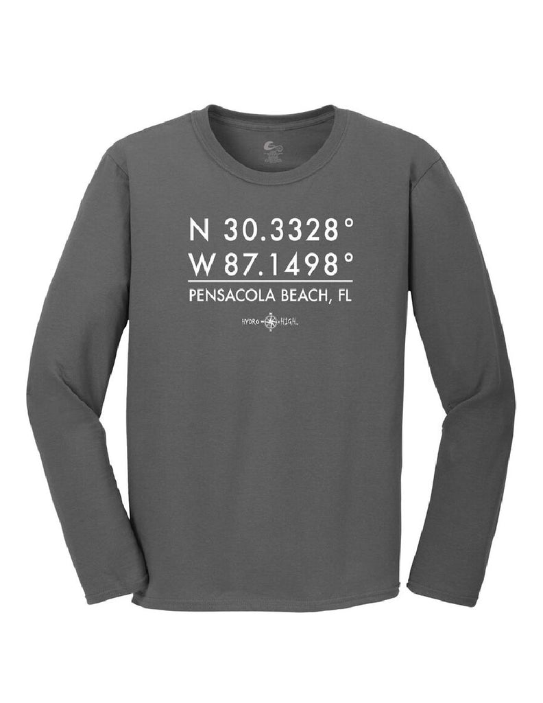 Pensacola Beach GPS Coordinates Long Sleeve T-Shirt