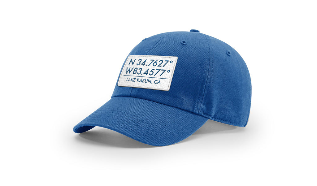 Lake Rabun GPS Coordinates Cotton Hat