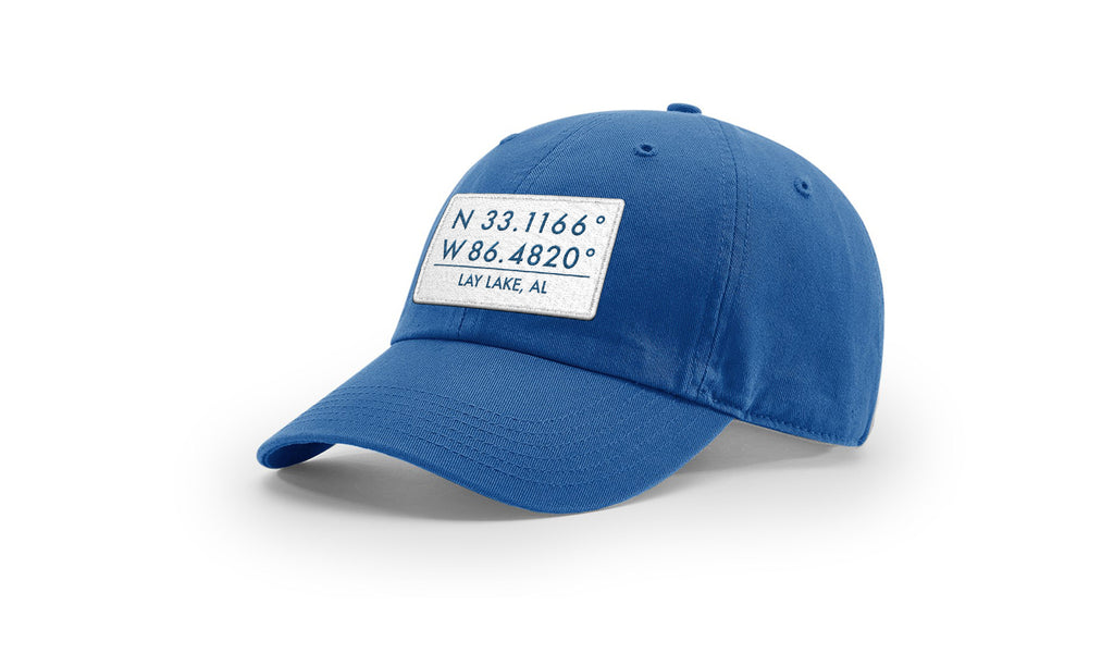 Lay Lake GPS Coordinates Cotton Hat