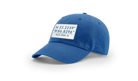 Buck Creek GPS Coordinates Cotton Hat