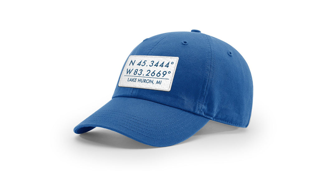Lake Huron GPS Coordinates Cotton Hat