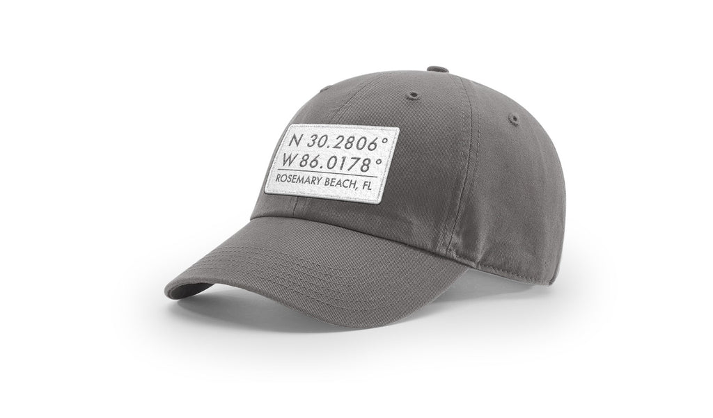 Rosemary Beach GPS Coordinates Cotton Hat
