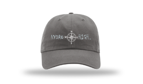 Hydro High Light Blue Compass Logo Cotton Hat