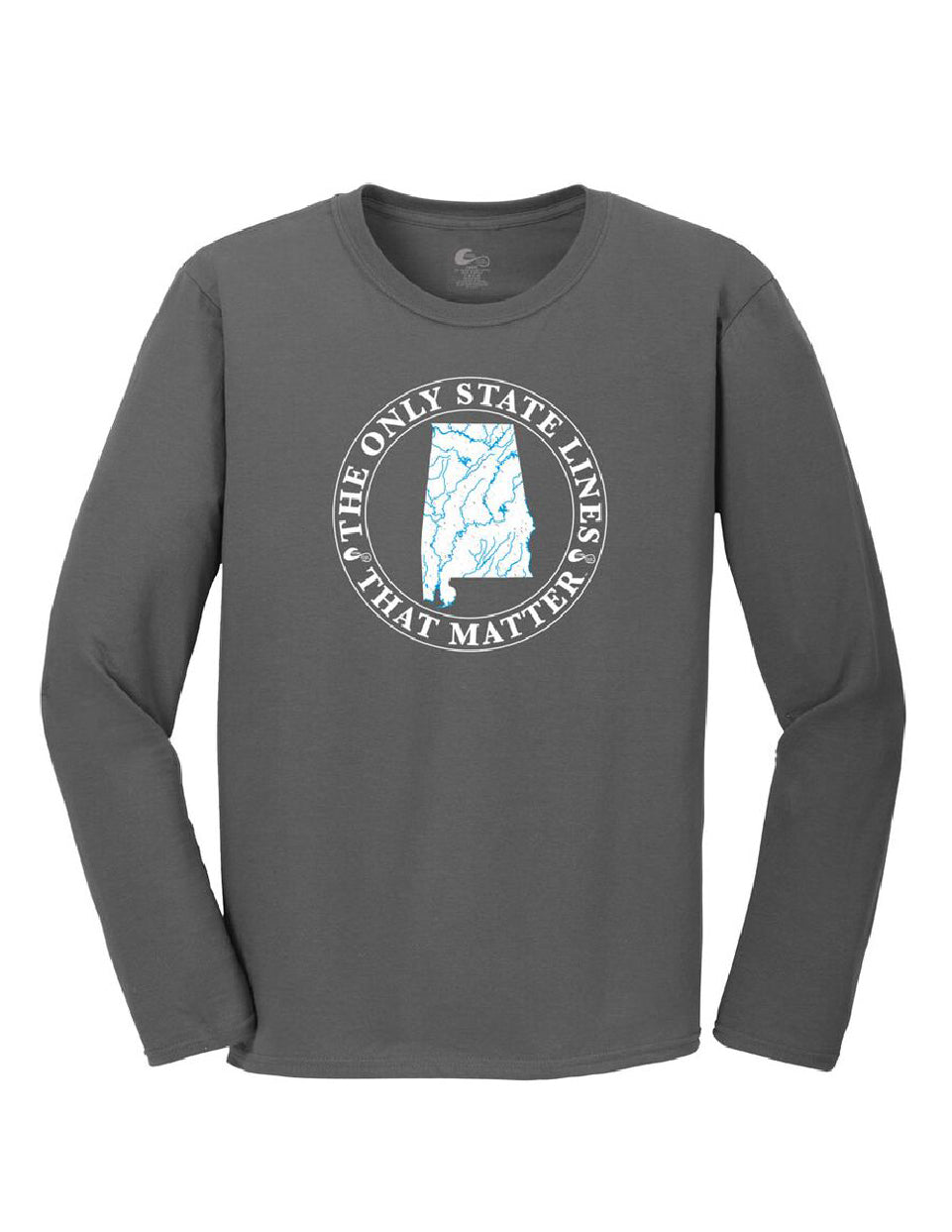 Alabama State Waterways Long Sleeve T-Shirt