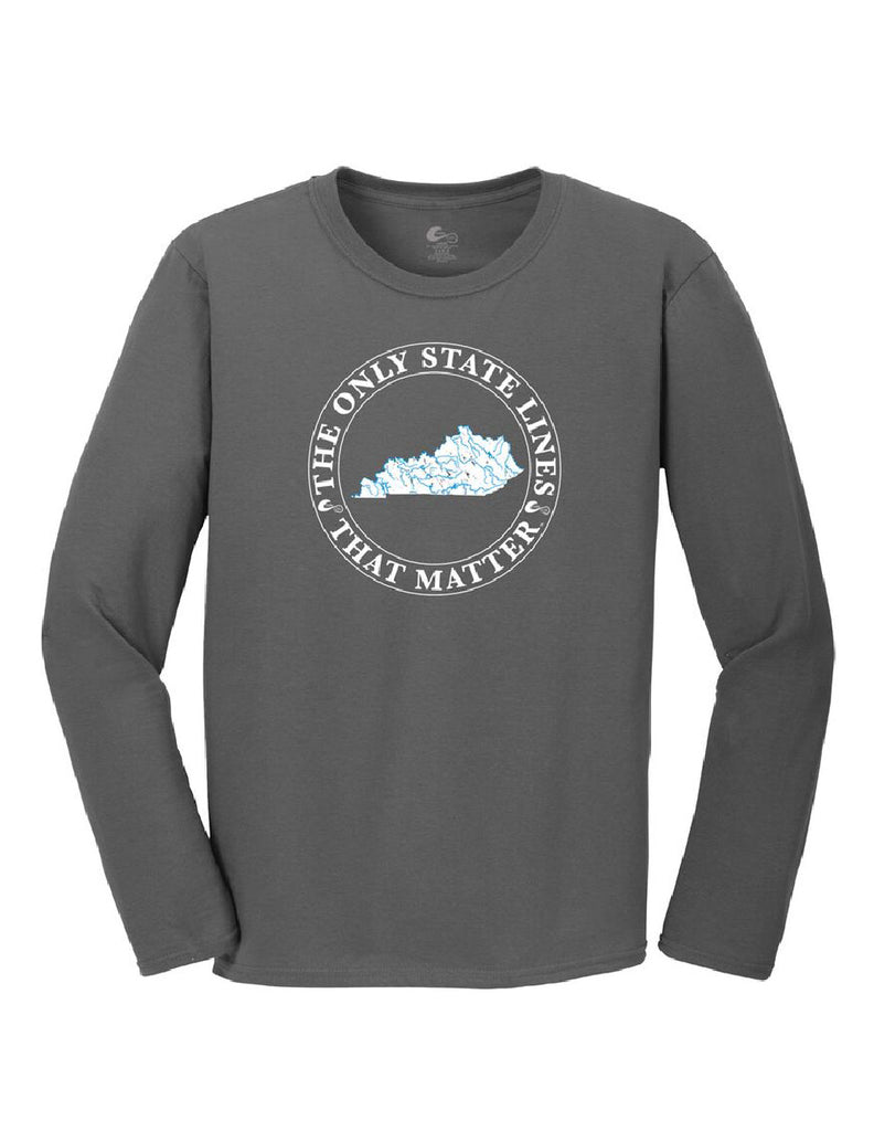 Kentucky State Waterways Long Sleeve T-Shirt