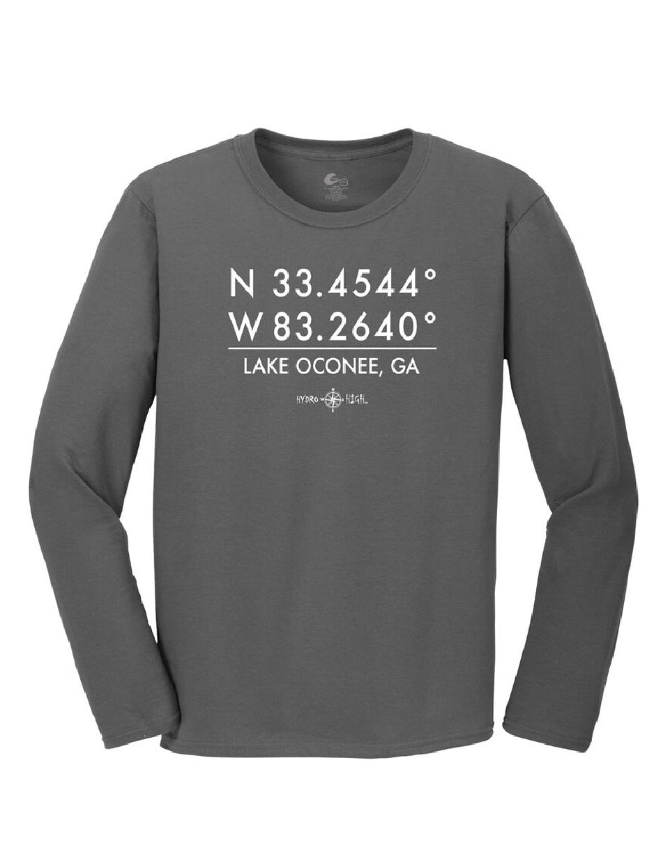 Lake Oconee GPS Coordinates Long Sleeve T-Shirt