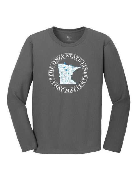 Minnesota State Waterways Long Sleeve T-Shirt