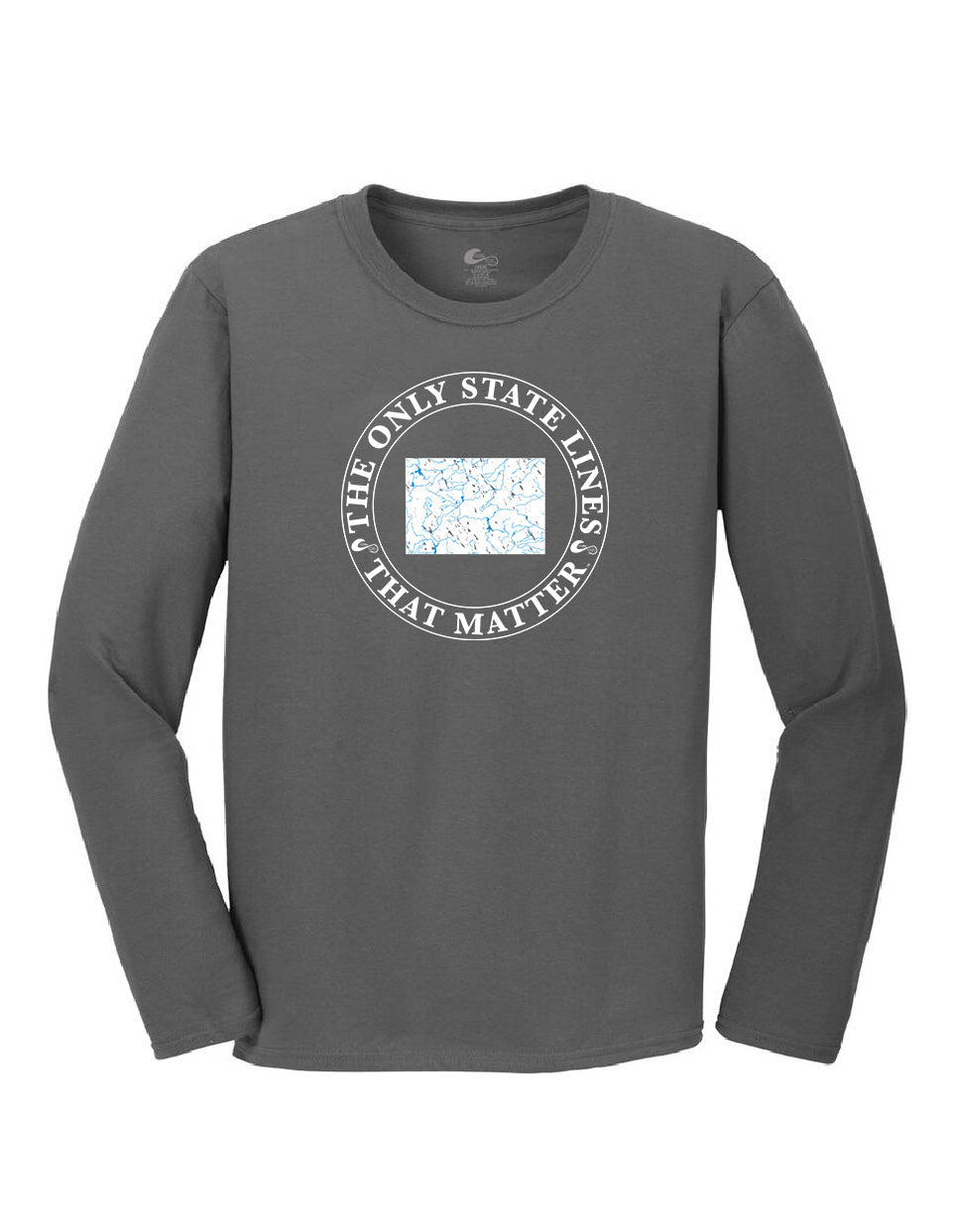 Wyoming State Waterways Long Sleeve T-Shirt