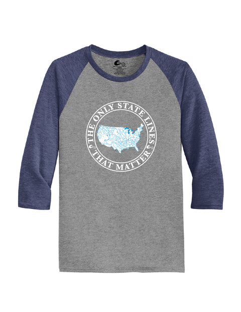 USA State Waterways Raglan Shirt
