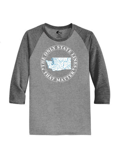 Washington State Waterways Raglan Shirt