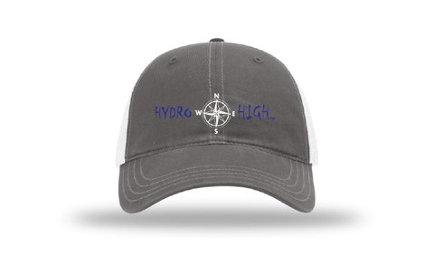 Hydro High Dark Blue Compass Logo Trucker Hat