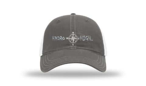 Hydro High Light Blue Compass Logo Trucker Hat