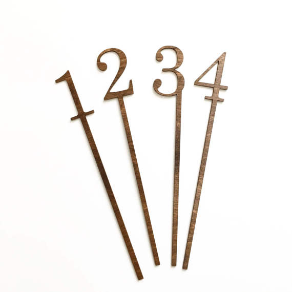 Table Numbers Classic Wood