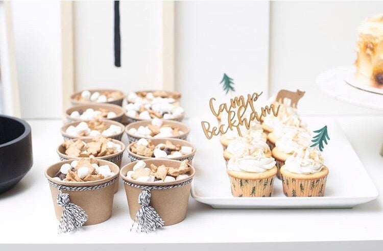 Custom Wood Cupcake Topper