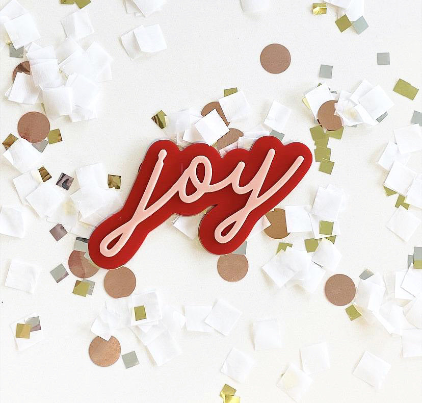 Merry + Bright Acrylic Word Cutouts