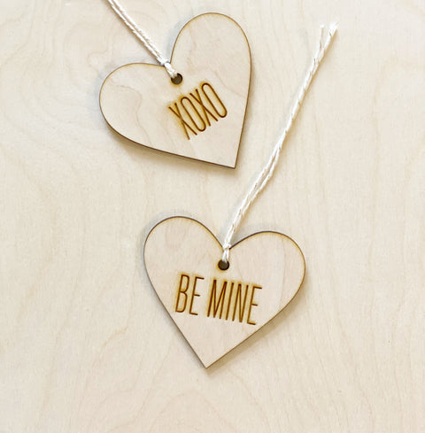 Engraved Heart Gift Tag