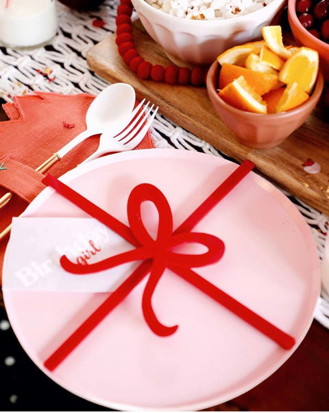 Acrylic Bow Place Setting Collab With Kesley Klos