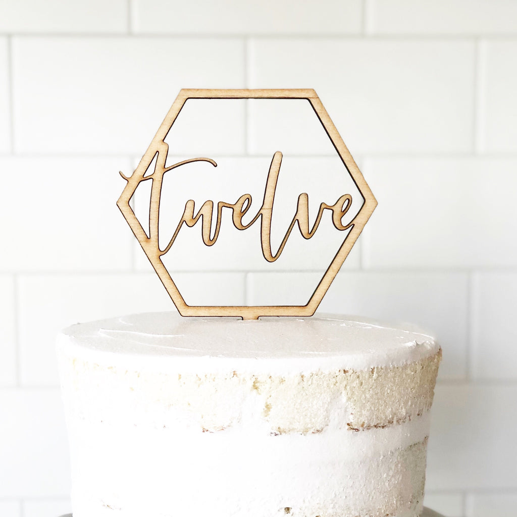 Custom Geometric Cake Topper