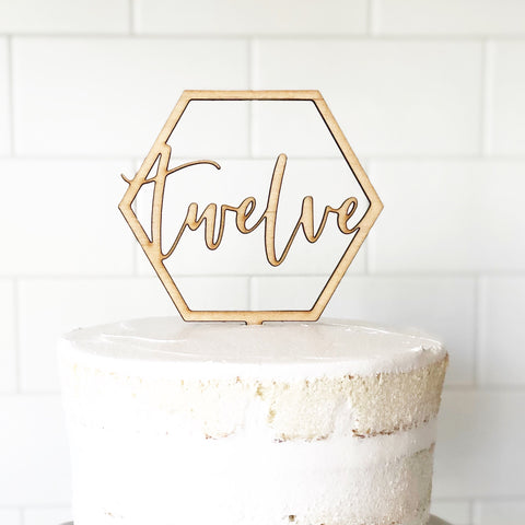 New! Custom Geometric Cake Topper