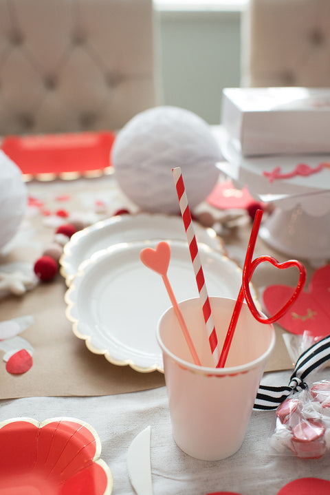 Heart Acrylic Drink Stirrers