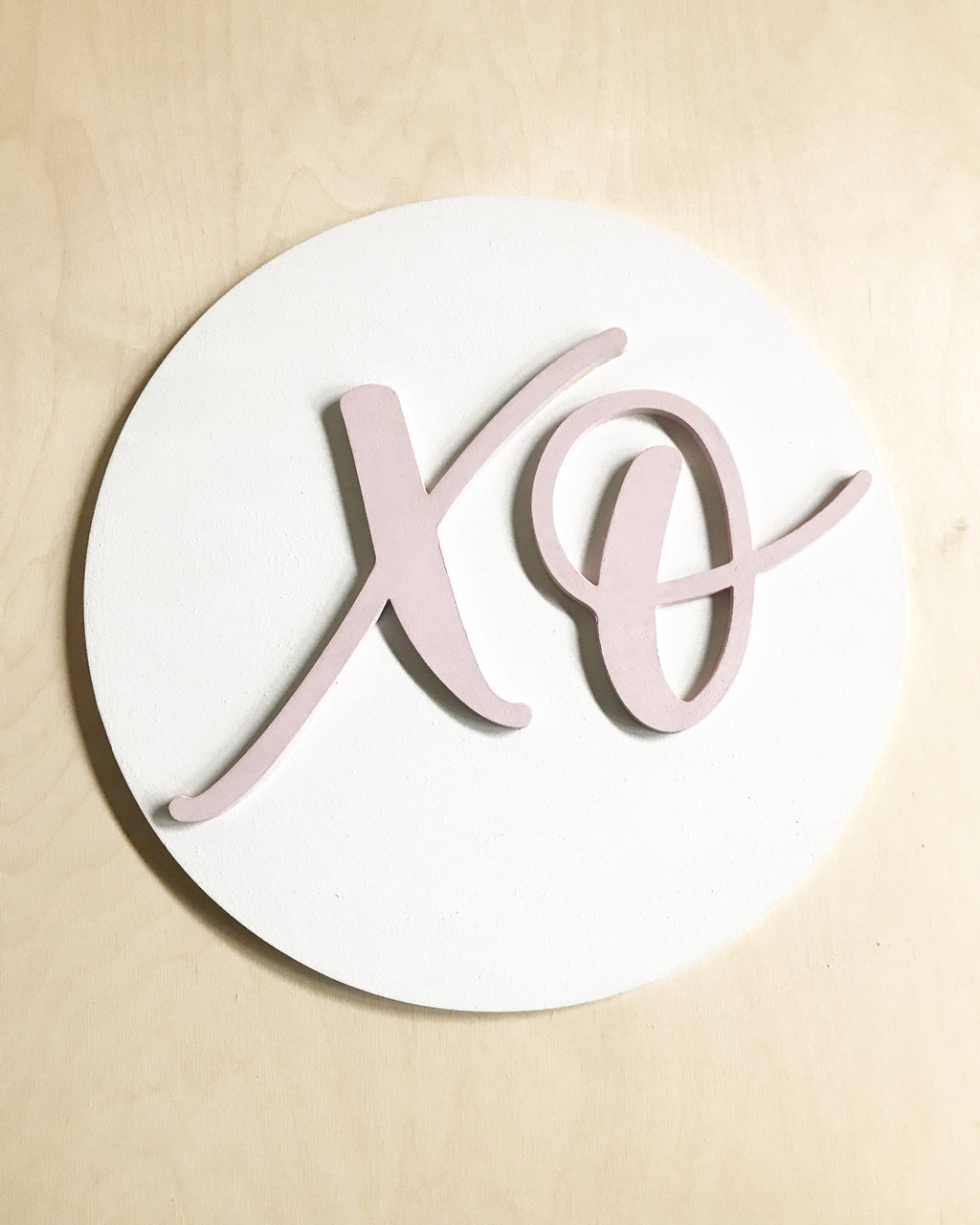 New! XO Circle Sign