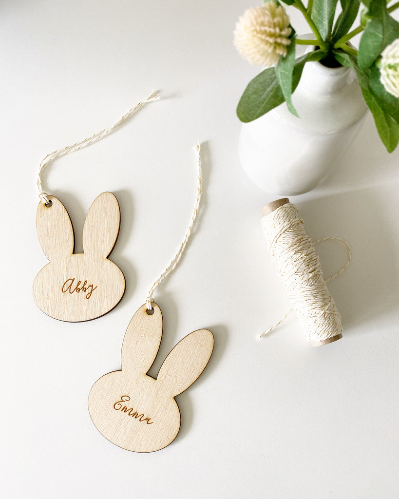 Custom Engraved Bunny Gift Tag
