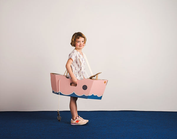 Mister Tody's Cardboard Boat - Pink