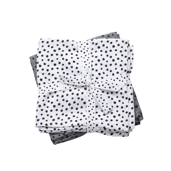Pack of 2 swaddles - dots