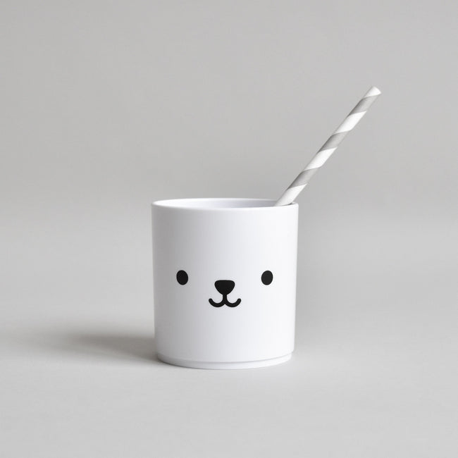 Tumbler Bear double sided - White