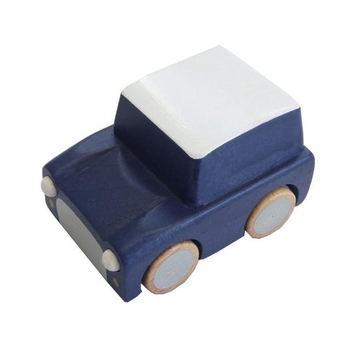 Wooden Wind Up Car - Kiko+ - dark blue