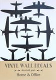 Aeroplanes wall stickers - Black