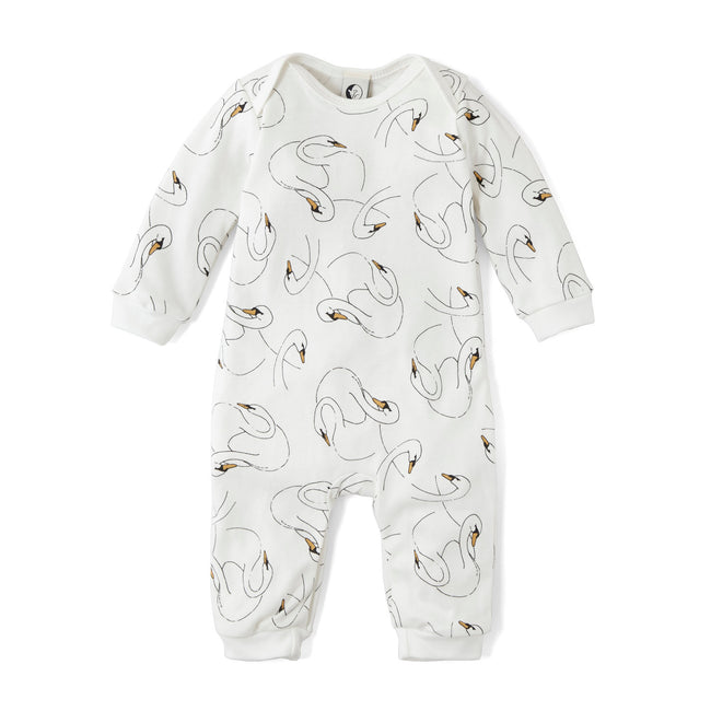 Baby Romper - Swansy White