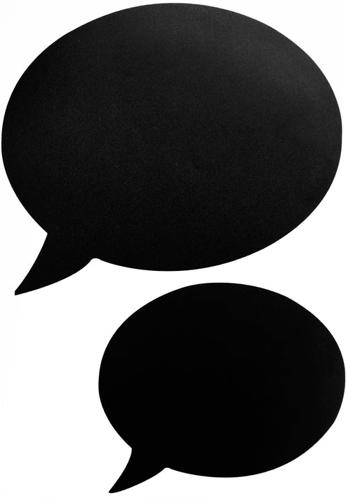 Speech bubble chalkboard wall sticker set of 5 - Black