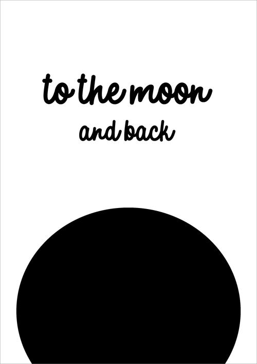 Print - To the moon A4