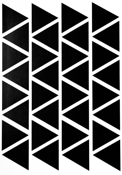 Triangle wall stickers - Black