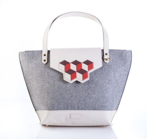 ttwinn london grey melange tote