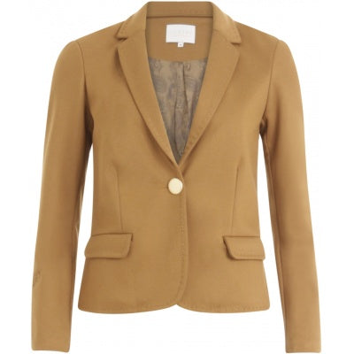 Suit jacket w. thick topstitching