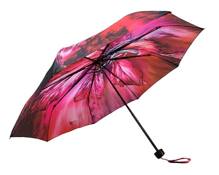 'Bauhinia' Designer Folding Umbrella