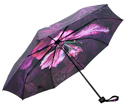 'Ebony Bright' Designer Folding Umbrella