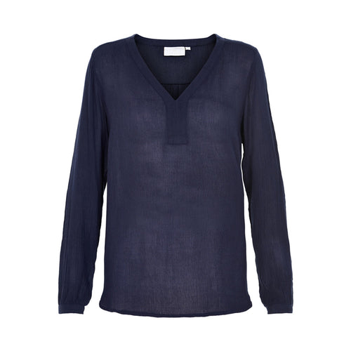 Amber l/s Blouse - Midnight Marine