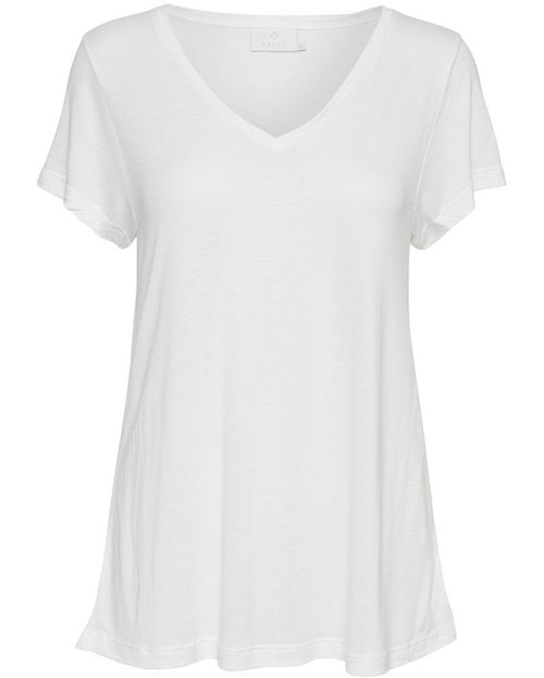 Anna V-neck Tee - Optical white