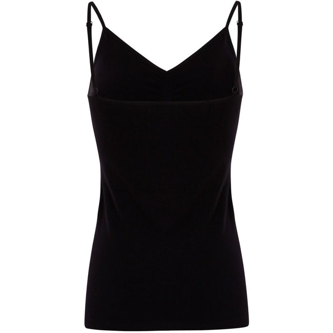 Seamless strap top- black