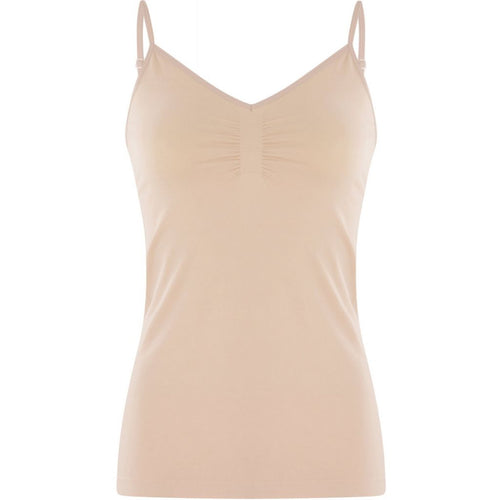 Seamless strap top- nude