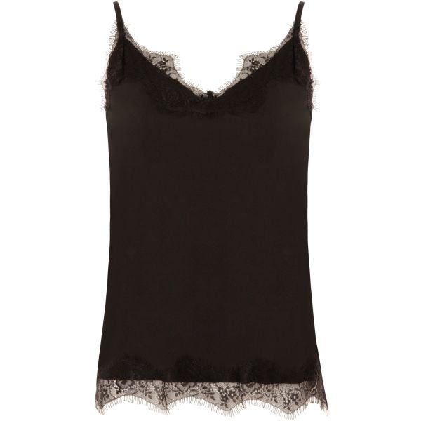 Black lace strap top