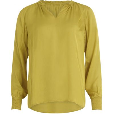 Blouse with smock - dusty lemon
