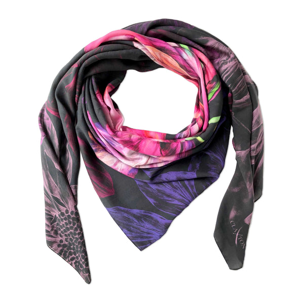 Ebony Bright Small Luxury Scarf