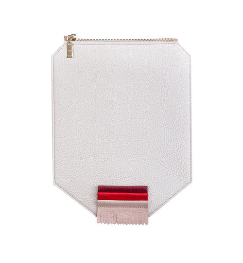 Red Fringe Leather Flap