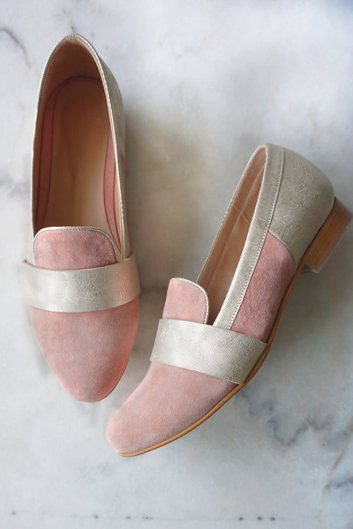 Gabrielle Peach Loafers