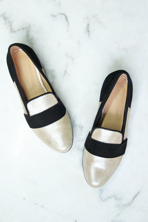 Gabrielle Gold Loafers